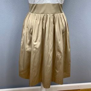 Eliza J Dresses - Eliza J gold satin skirt shirt dress 12